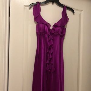 Fuchsia prom gown